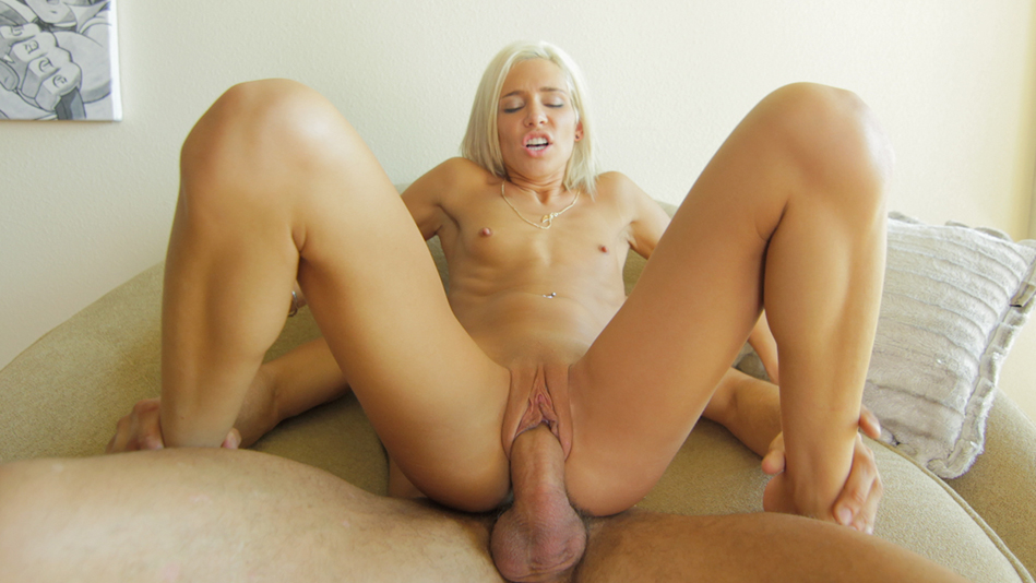 Naughty Blonde Kacey Jordan Stuffs Her Snatch with Cock